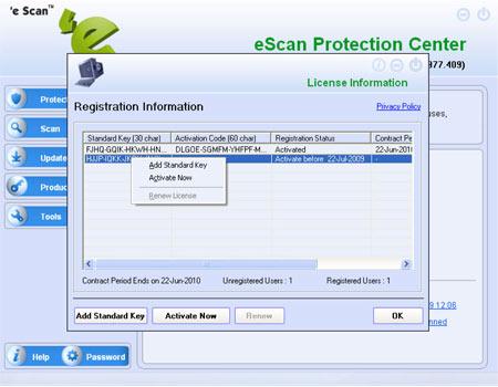 escan internet security license key free download