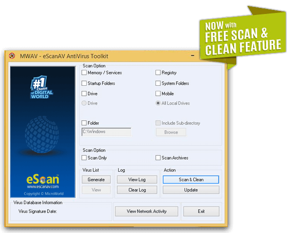 Download Free eScan Antivirus Toolkit | Scan for Virus Online